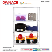 OW-WD03 Four 4 Layers Chrome Wire shelving storage rack