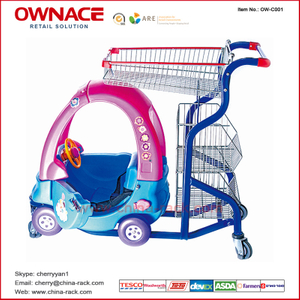 OW-C001 Supermarket Shopping Basket Buggy Trolley/Cart for Children