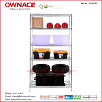 OW-WD01 Six 6 Layers Chrome Display Wire shelve