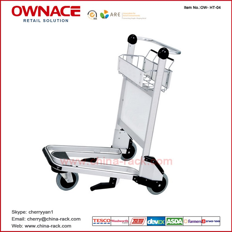 Hot Style Aluminium Alloy Airport Luggage Trolley For Passenger (200 KG)